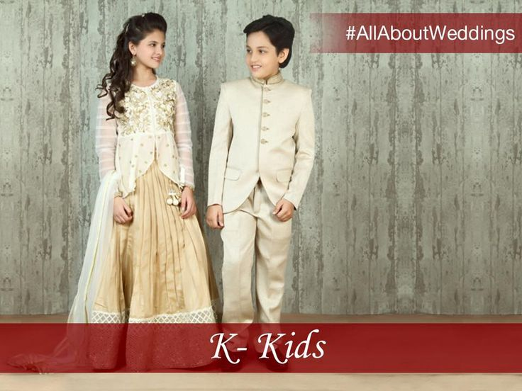 #AllAboutWeddings: With weddings being an extravagant family affair, don't miss out on styling the perfect look for your kids. Dress up your little girl in a graceful net gown or a stylish anarkali while styling your boy's look in a royal sherwani or a smart suit.