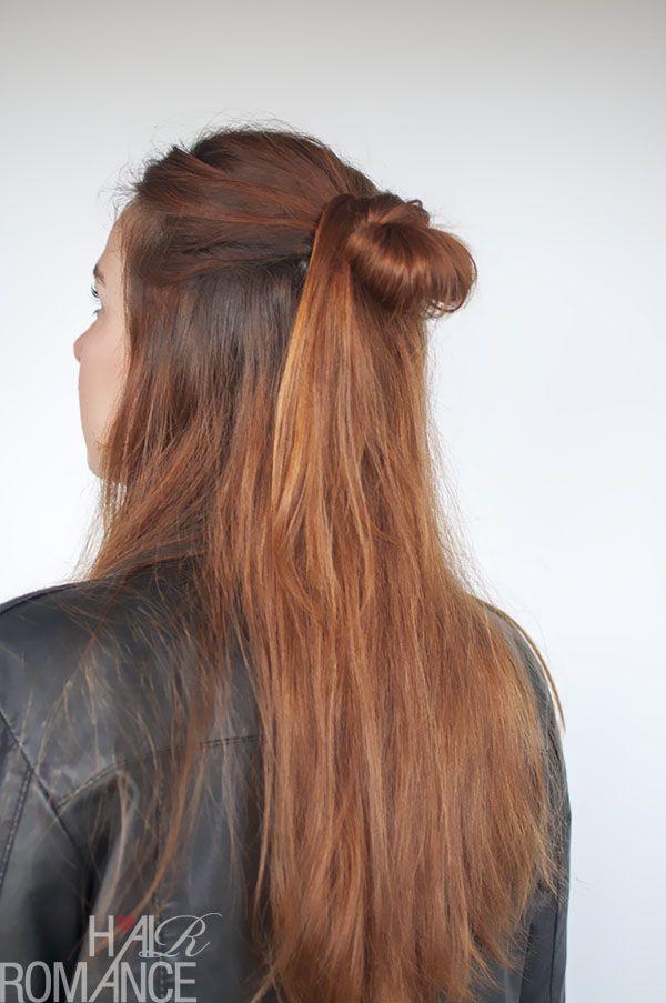 90er Jahre inspiriertes Frisurentutorial – der halbe Haarknoten