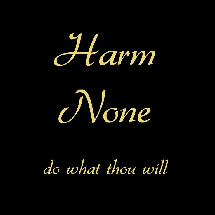Pagan Rede - harm none