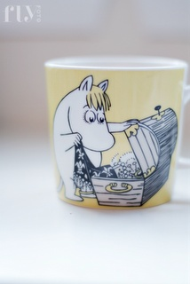 Moomin mug. I would drink out of this purely because they freaked me out so much as a kid!!!
