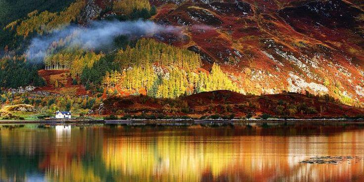 De skotska högländerna är höstens vackraste resa. I alla fall om du frågar resemagasinet Allt om resor, som menar att landskapen är helt oslagbara när de skogsklädda bergen exploderar i rött...
