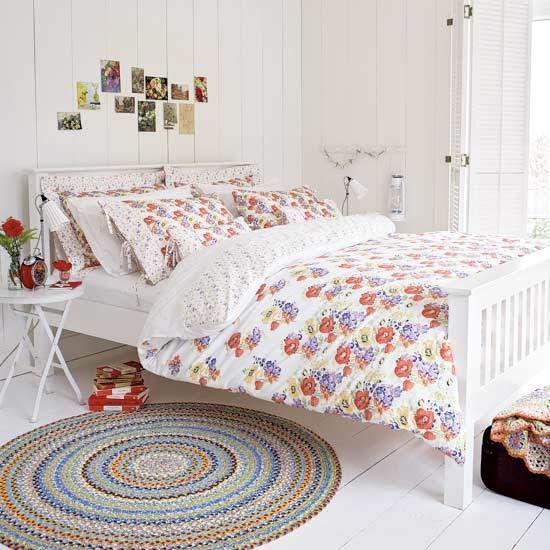 pretty fresh summery bedroom