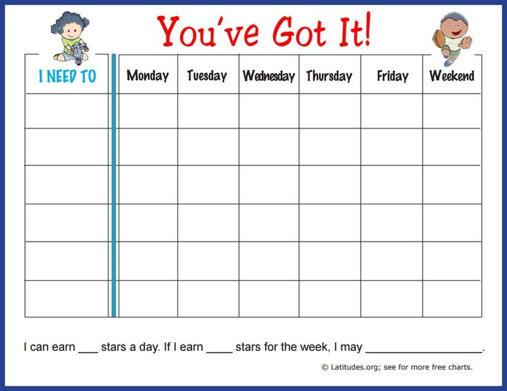 Free Weekly Behavior Chart: You've Got It!