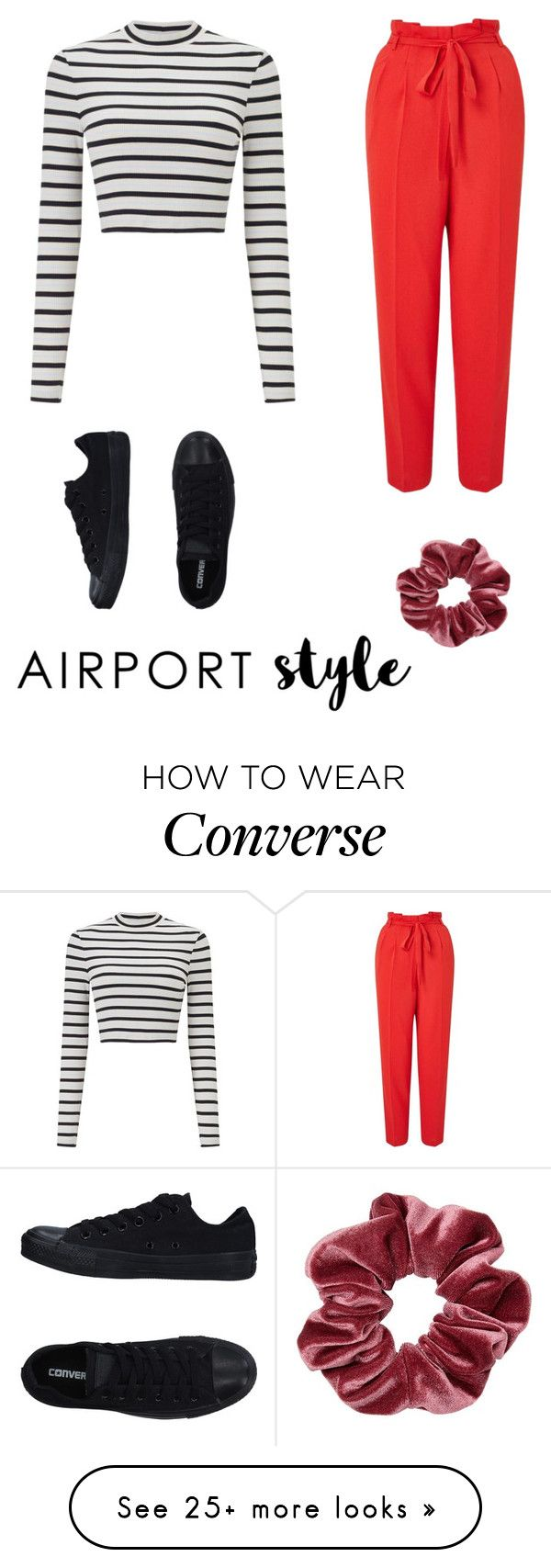 """Untitled #34"" by gracemolenhouse on Polyvore featuring Miss Selfridge, Converse and airportstyle"
