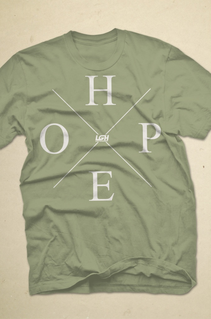 Olive Hope Tee from lightgivesheat.org
