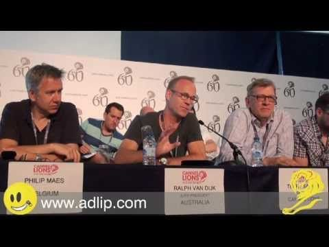 Ralph Van Dijk presents the Cannes Lions 2013 Radio Grand Prix - YouTube