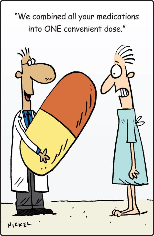 Image result for polypharmacy cartoon