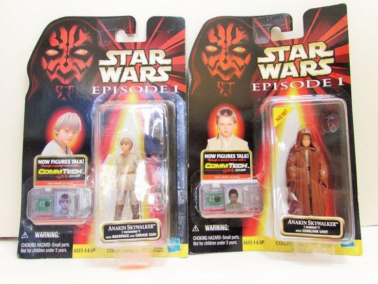 Star Wars 2 LOT of Anakin Skywalker Naboo and Tatooine Episode 1 Hasbro Figure