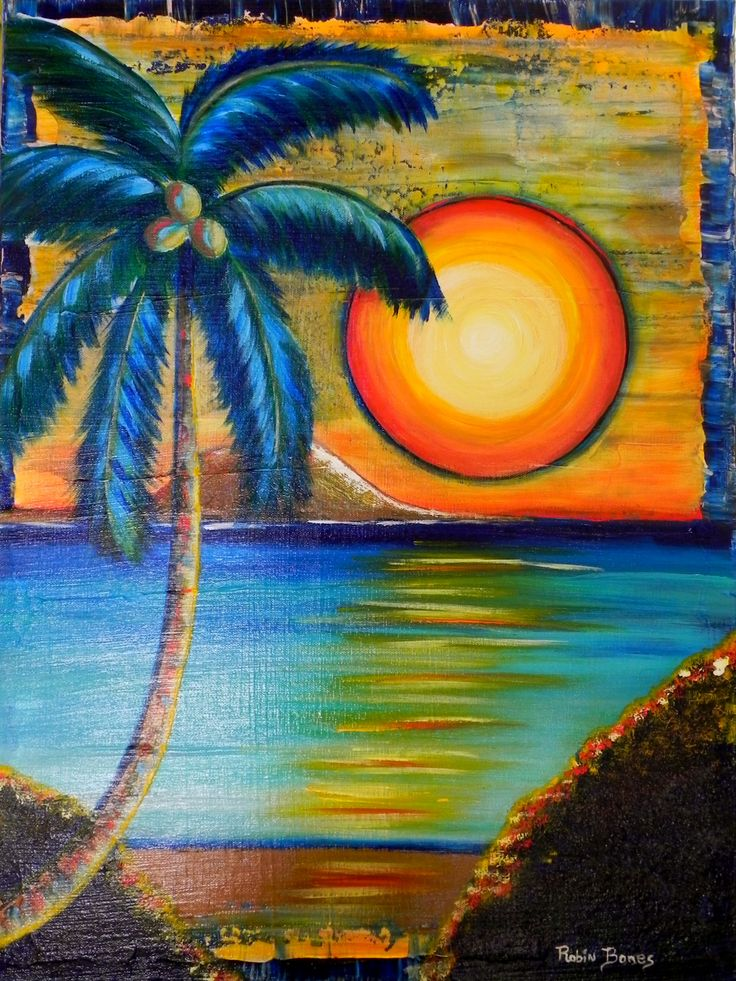 299 best palm tree stuff images on pinterest palm trees for Basic portrait painting