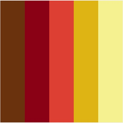 Brown Maroon Coral Mustard And Yellow Like This Combo