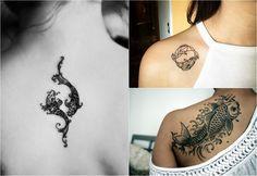 Sternzeichen Tattoo fische-symbole-nacken-schlüsselbein-rücken ...