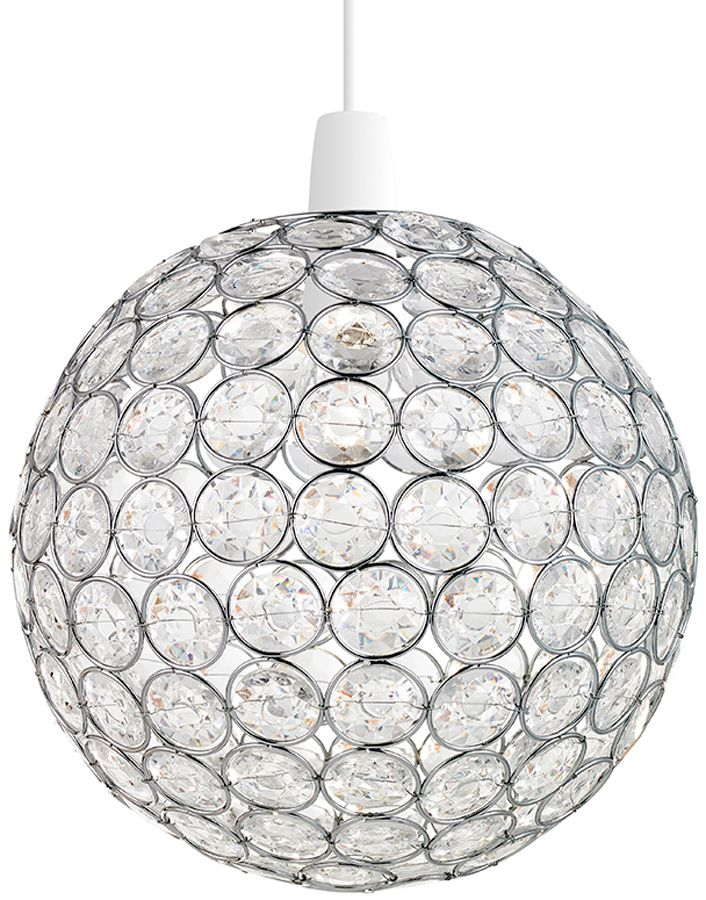 Oakley Clear Acrylic Bead Ball Non Electric Ceiling Lamp Shade