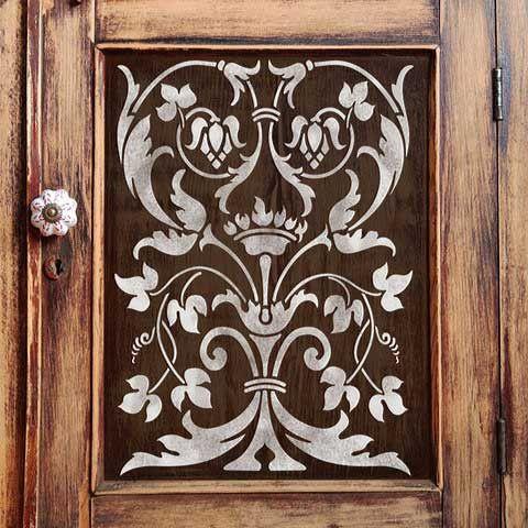 Firenze Classic Panel Stencils - Painted Furniture Panel Stencils - Royal Design Studio