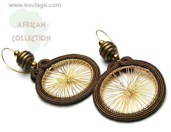 African Sun earrings by SoutageAnka on Etsy, zł110.00