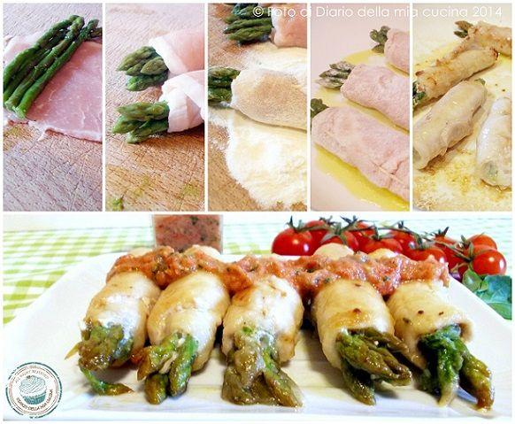 Involtini di lonza con asparagi e salsa fredda al pomodoro Pachino IGP  #food #recipes #tomato #