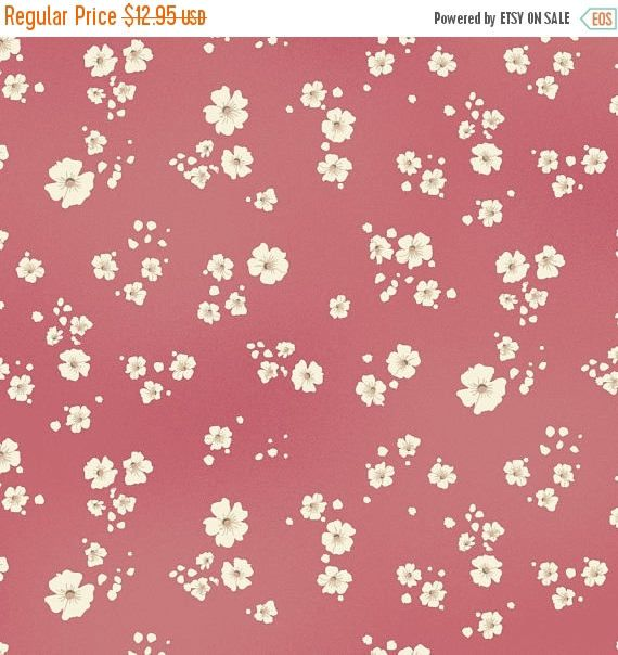 YEAR END SALE Welcome Home~Baby's Breath~Rose~Cotton Fabric by Maywood Studio Fast Shipping, F878