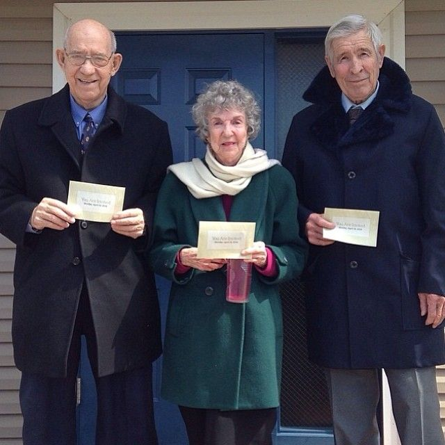 Memorial invitation campaign in Ashland, Virginia. Amazing publishers are all  over 80 and still find much joy in the ministry! -- JW.org --  Photo shared by @Kate Mazur Mazur Mazur Mazur Mazur Mazur Mazur Mazur Mazur Mazur Peterson