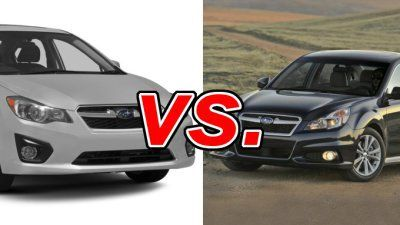 Subaru Impreza vs Subaru Legacy #subaru #legacy #gas #mileage http://pet.nef2.com/subaru-impreza-vs-subaru-legacy-subaru-legacy-gas-mileage/  # Subaru Impreza vs Subaru Legacy Despite all of the wagon-shaped vehicles Subaru makes, it does manage to turn out sedans, as well. The Japanese company offers the Impreza and its bigger, more powerful brother, the Legacy . Both four-doors are ready for bad weather thanks to their standard Symmetrical All-Wheel-Drive. Which one should a buyer be…