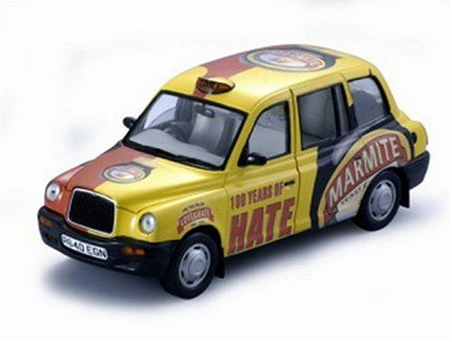 Diecast Model Austin Taxi Marmite in Yellow