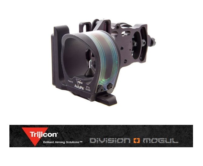 Trijicon BW50G-BL -  AccuPin Dual Illuminated Bow Sight Green Triangle with AccuDial