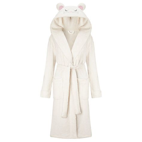 Buy John Lewis Mouse Character Hooded Robe, Ivory Online at johnlewis.com