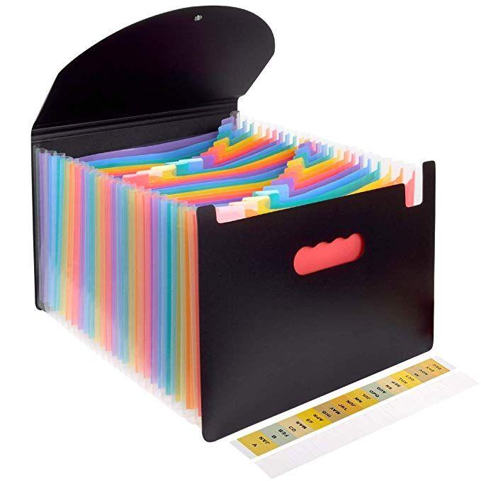 Accordion File Organizeri œexpanding File Folders With Cover 24