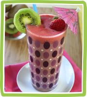 Hungry Girl's Double-0-Strawberry Quickie Kiwi Smoothie