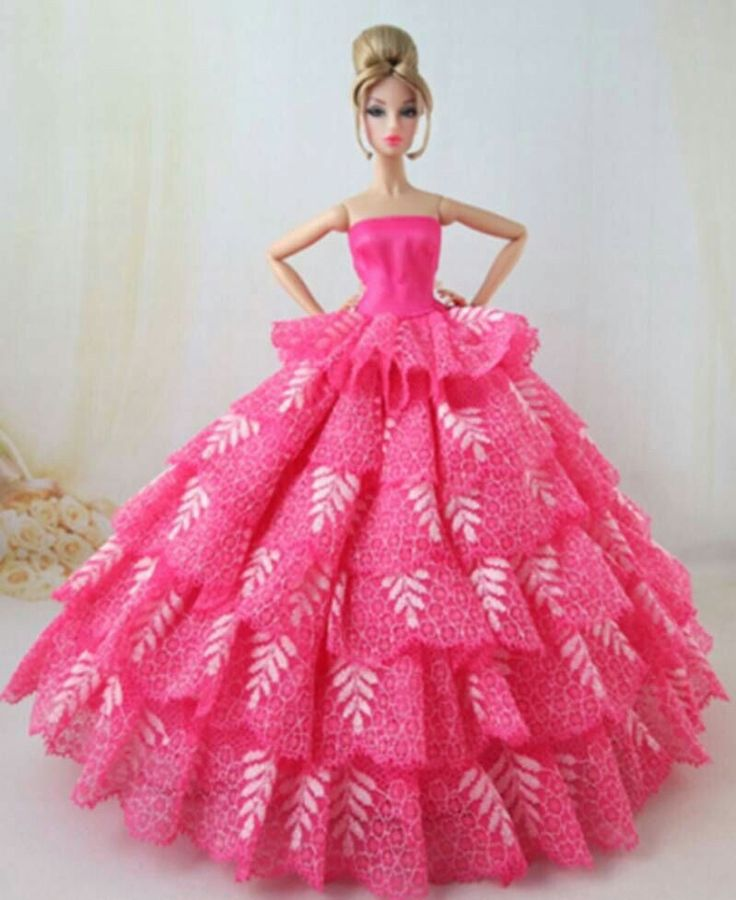 Barbie Pink Wedding Dresses: 547 Best Images About Barbie Beautiful Pink Gowns On