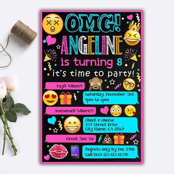 Emoji Invitations/ Emoji Birthday Invitations/ Emoji Birthday/ Emoji Party/ Emoji Party Supplies/ Emoji Invite/ Emoji Printable/ Emoji Card by RayabKertas on Etsy https://www.etsy.com/listing/522943014/emoji-invitations-emoji-birthday