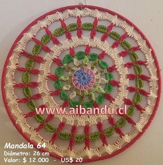 Mandala 64 ... tejido a crochet ... diametro 26 cm