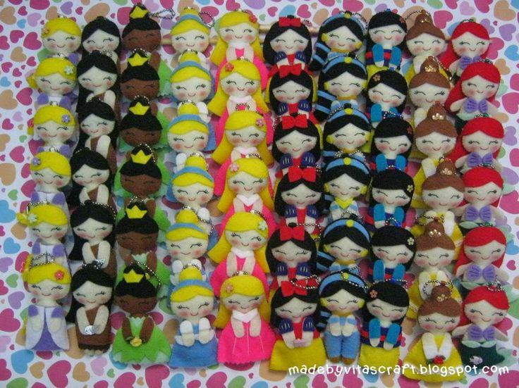 Disney Princess Felt Doll Keychain 2