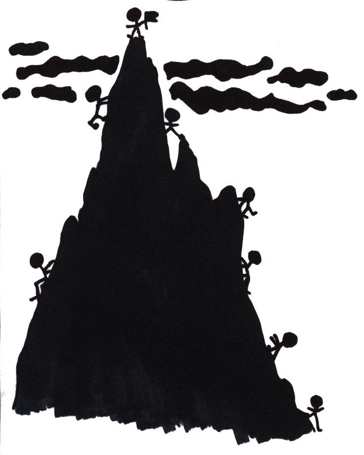 silueta vrchol