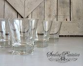 Vintage Cocktail Glass, Champagne Glass, Made in Italy, Barware, Set of 6, Wine Glasses, French Country, Shabby Chic, Farmhouse, Antique