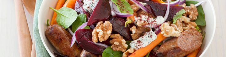 Roasted beetroot & sausage salad recipe from WW freshbox