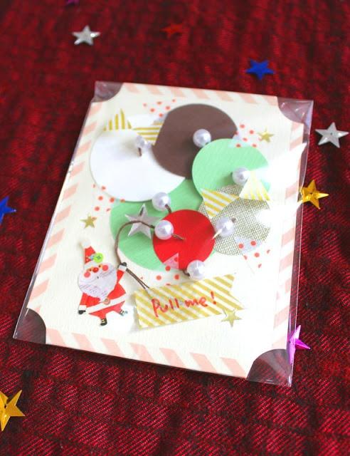 おとなのずがこうさく: 簡単クリスマス工作☃『小さなツリーカード』  Cool card/decoration idea