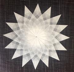 Sterne Aus Transparent Papier. Weißer Stern - 16 Zacken
