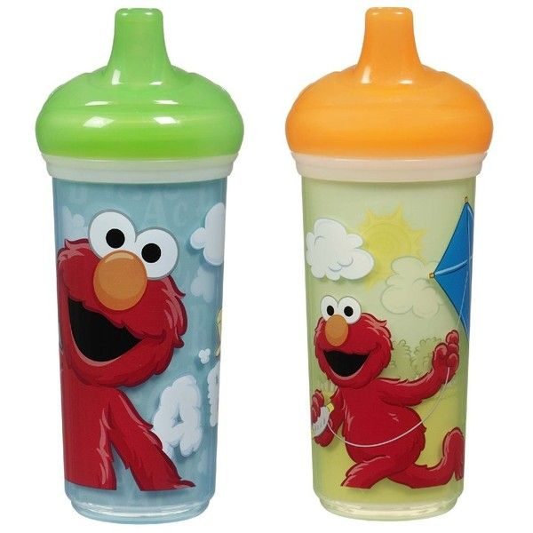 Munchkin 2 Pack Sesame Street Insulated Spill-Proof Cup, 9 Ounce,... (82 SEK) ❤ liked on Polyvore featuring baby and baby stuff
