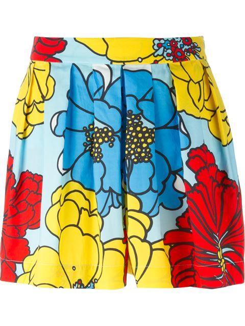 Купить P.A.R.O.S.H. плиссированные шорты-юбка в цветочный принт в Biffi from the world's best independent boutiques at farfetch.com. Shop 300 boutiques at one address.