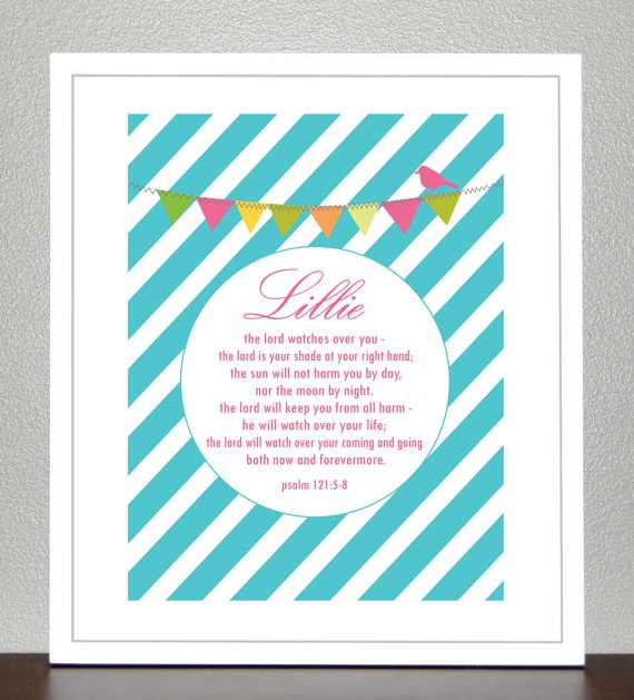 Baby Dedication Baptism Gift Bible Verse By