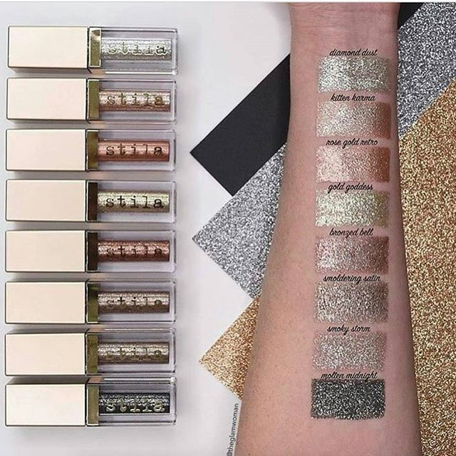 "Love these! ♡♡ Put your eyes on the spotlight! ""Stila Magnificent Metals Glitter & Glow Liquid Eyeshadows"" will do the trick!"