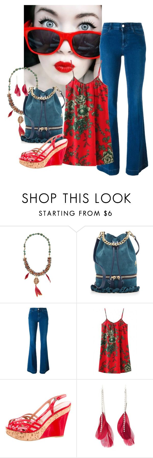 """""""Red For You"""" by joybug9 ❤ liked on Polyvore featuring SkinCare, Deepa Gurnani, MANU Atelier, STELLA McCARTNEY, Alaïa and Charlotte Russe"""