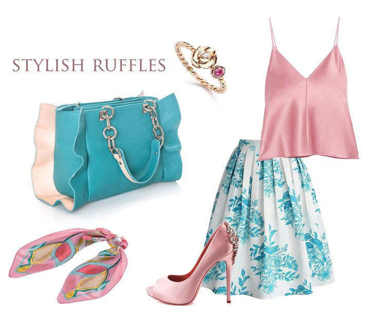 The sweet pastels of your silky tops and floral summer skirts can be easily paired with the intense shade of graceful leather purses such as the Grace bag. Its design impresses with the distinguished ruffles that decorate it, offering you an outstanding feminine air.