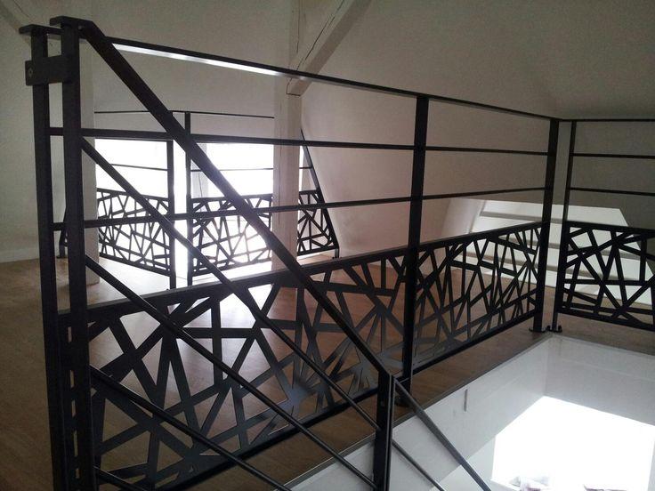 1000 id es sur le th me rampe escalier sur pinterest - Garde corps pour muret ...
