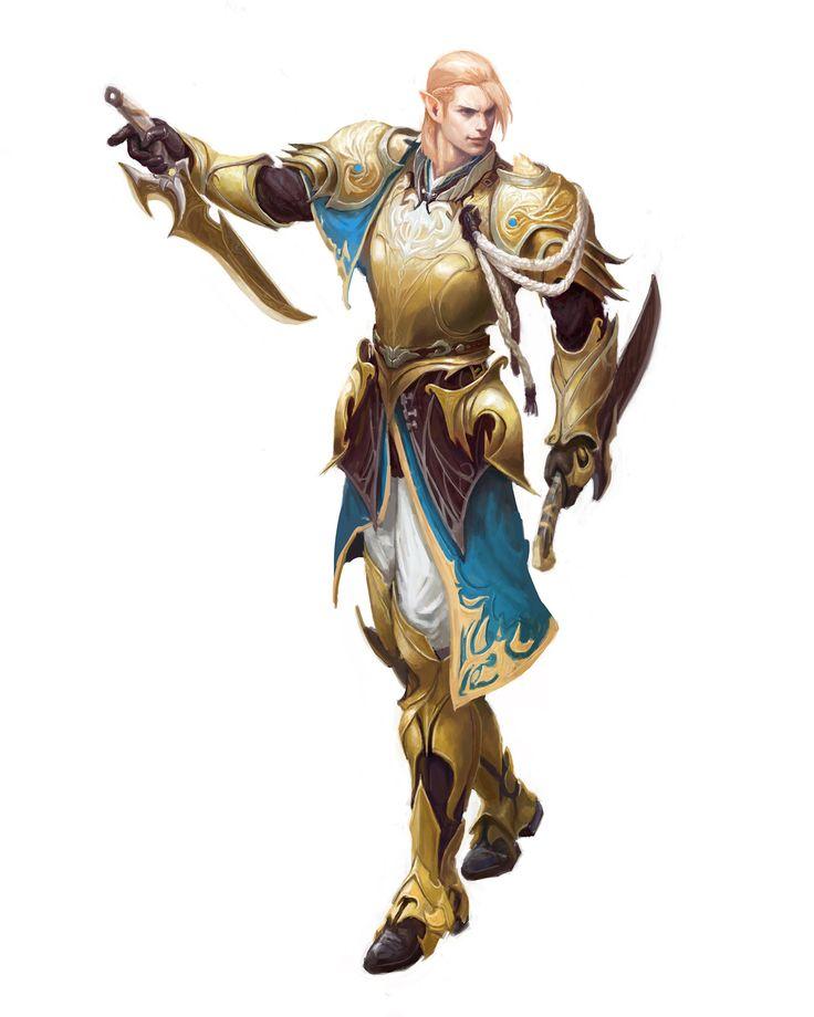 elf noble knight, young hun byun on ArtStation at https://www.artstation.com/artwork/elf-noble-knight