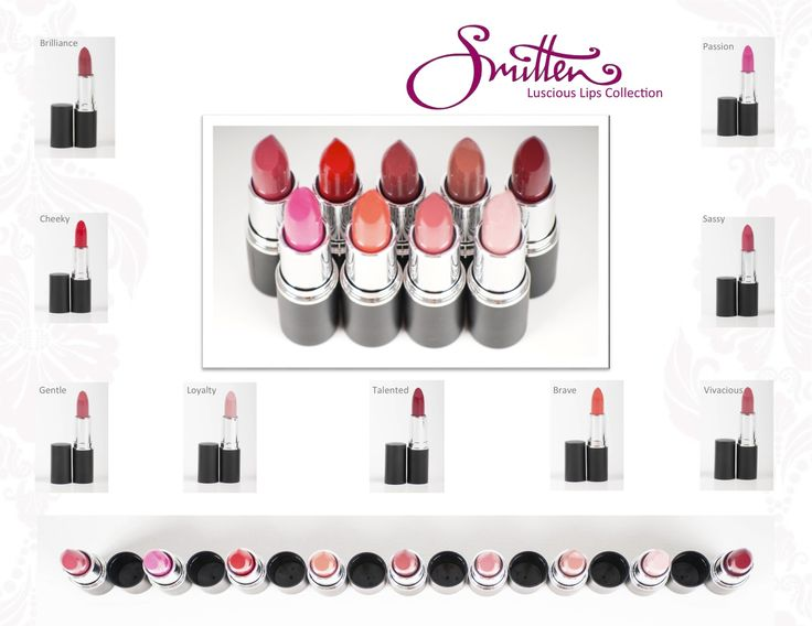All our awesome lipstick colours...named after the women who have been on this craaaazzzy journey with us.