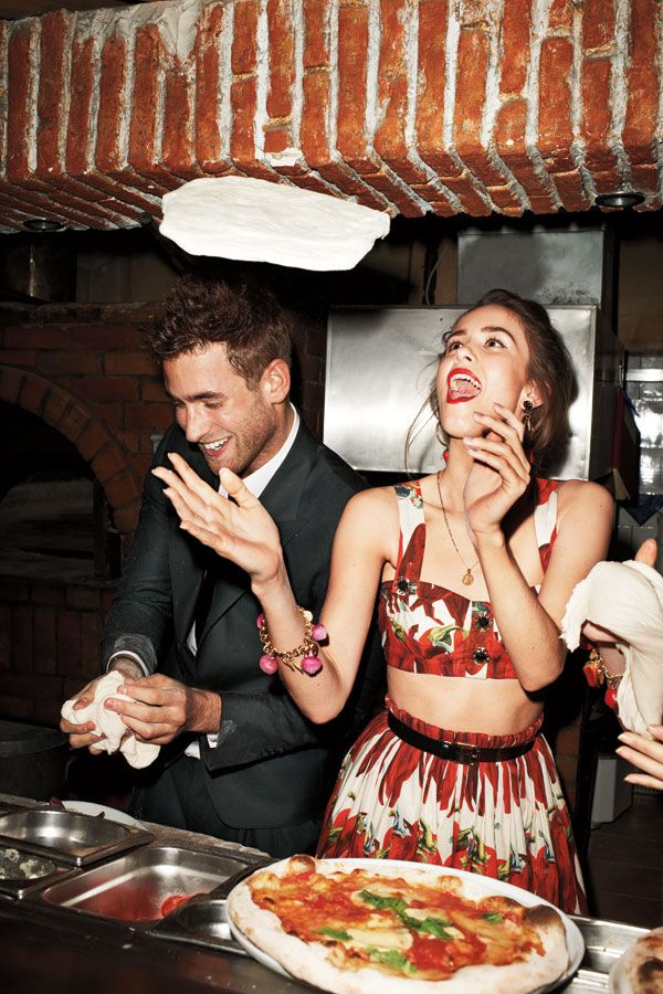 Jade Williams and Oliver Jackson-Cohen in D - A Dinner Party With Dolce & Gabanna, London It Girls and Terry Richardson - Harper's BAZAAR