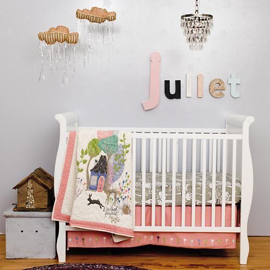 Penelope S Woodland Fairy Tale Nursery: Baby Bedding: Fairy Tale Themed Crib Bedding In Crib