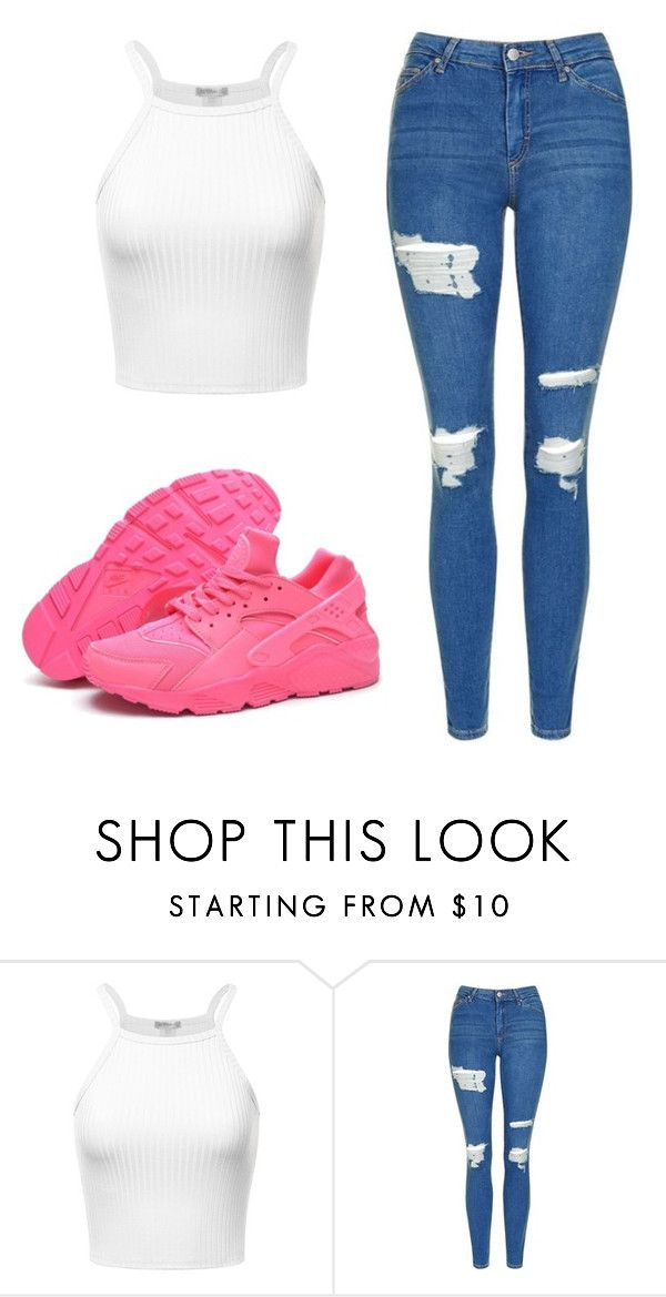 """""""Untitled #475"""" by cuteskyiscute ❤ liked on Polyvore featuring Topshop and NIKE"""