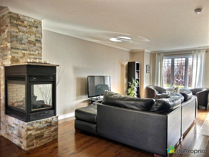 Foyer 3 faces gaz recherche google future maison - Pierre decorative pour foyer ...