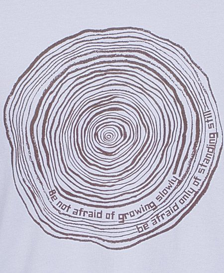 Tree rings + quote.